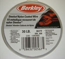 Berkley Steelon Nylon Coated Fishing Wire Leader SS Material D30 30lb 30ft