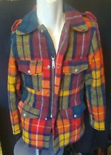 Vintage Men's Plaid Wool Coat Jacket Small Towncraft Hunting Soft Lined Filson
