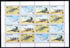 CAPE VERDE 1997 WWF FISH SMALLTOOTH SAWFISH FULL SHT 4 STRIPS OF SCOTT 716 $40