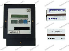 AMPY Cardmeter Prepayment Electric Slot Meter & 150 x £10 Cards Electricity 100A