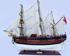 """HMS BARK ENDEAVOUR Painted Model Tall Ship 36"""" Handcrafted Wooden Ship Model"""