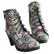 48# Black Flower 1/3 SD BJD DOD Dollfie High Heels Flanging Shoes-7.5cm