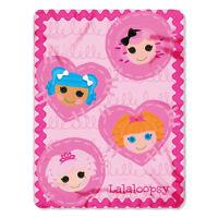 """Lalaloopsy Rag Dolls Kids Girls Fleece Throw Blanket Cartoon 45"""" x 60"""" Gift NEW"""
