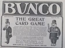 Antique 1900 Bunco Card Game Home Game Co. 1904 Print Ad Policeman Criminal Art