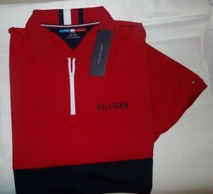 NWT MENS Tommy Hilfiger Sport S/S Performance Polo~Red~XXL