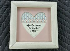 Another Name for Mother is Love Wood Framed Art / Shar & Co Inc 1987 Small Decor