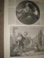 Astronomía por J Sant & Lance detuvo su perro por un W Calcott 1850 impresiones ref Ax
