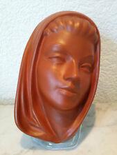 Maske Wandmaske Gmundner Keramik Mädchen Frau Heilige 50er Jahre old pottery