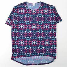 Lularoe Classic T Shirt Top Purple Pink Geometric Triangles Womens XL