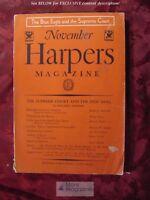 HARPER's November 1933 JOHN R. TUNIS MITCHELL DAWSON MARGARET CULKIN BANNING