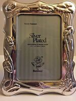 "Vintage! Loui Michel Cie by Bowon Silver Plated Picture Photo Frame ~ 3.5"" x 5"""