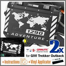 8x Rifrangenti ADESIVI Bianco compatibile con KTM 1290 ADV GIVI TREKKER OUTBACK