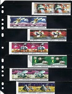 ''AMERICAN and RUSSIAN ''SPACE MISSIONS''.>>     MONGOLIA { 7  pair horz.} 1979