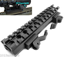Tactical Double Rail Angle Mount Quick Detach Picatinny Rail Rifle Scope Mount #