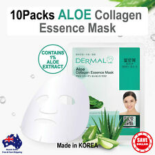 10x DERMAL Aloe Collagen Essence Facial Face Mask Sheet Skin Pack Korea