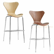 Series 7 Style Bar Stool Molded Bent Formed Plywood Walnut Or Natural Finish