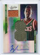 2010-11 ABSOLUTE #165 LARRY SANDERS AUTOGRAPH JERSEY BALL ROOKIE RC #12/25 BUCKS