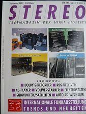 STEREO 9/93 JVC TD V 562,662,PIONEER CT S 420,620,SONY TC K 511S,711 S,TECHNICS