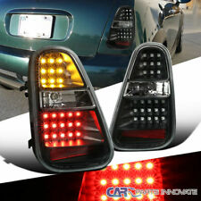 05-06 Mini Cooper S LED Black Parking Tail Lights Rear Brake Lamps Left+Right