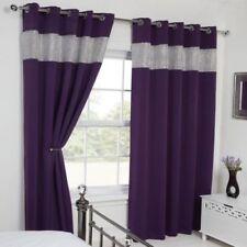 Rideaux et cantonnières œillet supérieur violette pour la maison