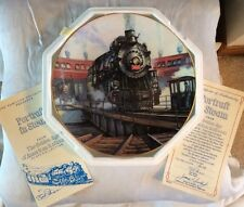 New! Portrait In Steam - The Golden Age of American Railroads Plate, Ted Xaras