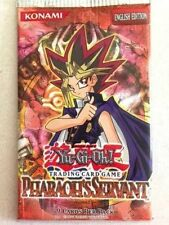 Yu-Gi-Oh PHARAOH'S SERVANT UNLIMITED EDITION BOOSTER PACK 3 COUNT LOT FREE SHIP