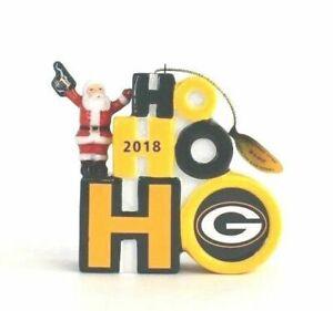 "Danbury Mint NFL 2018 Green Bay Packers Christmas Tree Ornaments 3.25"""