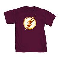 DC Comics Flash TV Season 2 Lightning Bolt Logo Mens Red T-Shirt