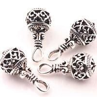 10/20Pcs Tibet Silver Hollow Beads Charm Pendant Jewelry Craft DIY Making Supply