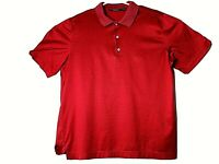 Bobby Jones Men's Red  Blue Striped Cotton Golf Polo Shirt  Large EUC Fast Ship