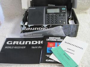 GRUNDIG YACHT BOY YB 305 AM / FM / SHORTWAVE RADIO WITH BOX AND PAPERWORK