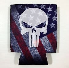 Punisher USA Flag Gift beer Drink can Koozie drink Coozie