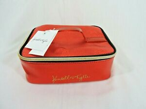 Kendall + Kylie Spacious Vanity Case Red Make Up Case Brush Holder NWT