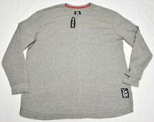 Ecko Unltd Thermal Shirt Men's 4XL 4XB 4X Waffle Tee Grey Urban Streetwear Q488