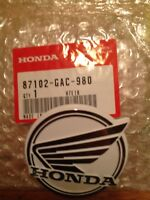 Honda C90 Leg Shield Badge (87102-GAC-980) & Pair Emblem Rivets (87129-141-000)