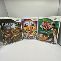 Lot of 3 Wii Games Call of Duty 3, My Sims Party, Smarter then a 5th grader