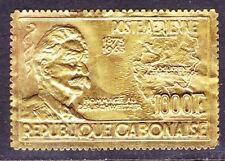 Gabon C39 MNH 1965 1000 Gold Dr. albert Schweitzer Issue Scv $55.00