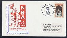 1971 US Cover - NBA Basketball All-Star Game, January 12 1971 - San Diego CA