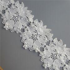 5x Vintage Cotton Flower Lace Edge Trim Wedding Ribbon Applique Sewing Craft