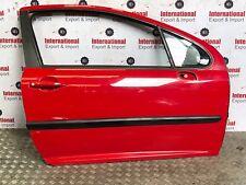 2008  PEGOUET 207 SPORT 3 DOORS COMPLETE DRIVER SIDE FRONT DOOR O/S/F IN RED
