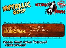 Music John Petrucci Oro Restauración tobogán Man Calcomanía