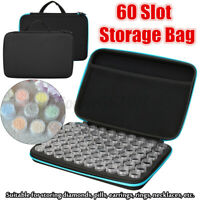 60Slots w/ bottles Embroidery Diamond Painting Storage Box Case Nail Art  L New