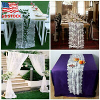 Modern Exquisite Lace Table Runner Wedding Banquet Party Home Decor Tablecloth