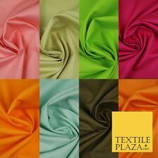 """Premium popeline 100% pur coton Solid Plain Tissu Teint Robe Craft Material 44"""""""