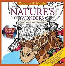 Nature's Wonders Animal Adult Coloring Book With Bonus Relaxation Music CD Inclu