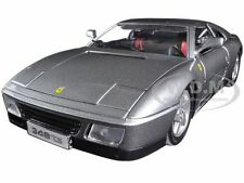 FERRARI 348 TS GREY 1:18 DIECAST MODEL CAR BY BBURAGO 16006