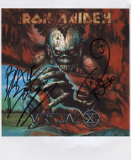 "Iron Maiden Nicko McBrain Blaze Bayley Signed  8"" x 10"" Photo Genuine In Person"