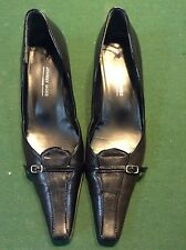 Awesome Designer Johnny Moke London Womens Black Kitten Heels Pumps Shoes 7