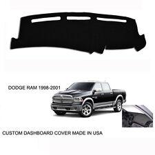 New Dodge Ram 1500 2500 Truck Custom Black Dashboard Dash Cover 1998-2001