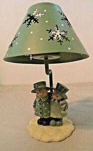 Christmas Tea Light Candle w/ Mr & Mrs Snowman